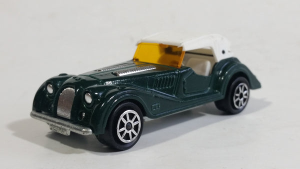 Vintage 1980s Majorette Morgan Hard Top Convertible Dark Green and White No. 261 1/50 Scale Die Cast Toy Car Vehicle Made in France