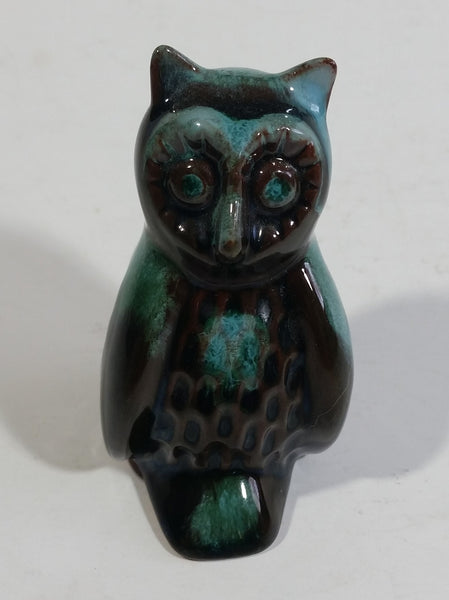 "Vintage BMP Blue Mountain Pottery 3"" Tall Owl Wildlife Bird Sculpture"