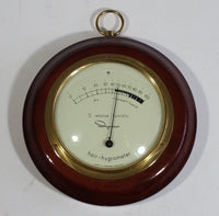 Rare Vintage Ingraham Hair - Hygrometer Wood Cased Relative Humidity Weather Instrument - Made in West Germany