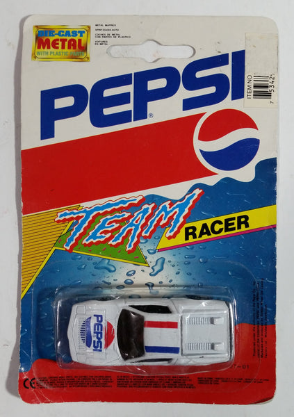 1990s Golden Wheels Pepsi Team Racer Die Cast Toy Car Vehicle Cola Soda Pop Collectible New in Package