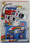 1990s Golden Wheel Special Edition Pepsi Team Racer #77 Die Cast Toy Race Car Vehicles with Gold Gas Blue Gas Station Pumps Soda Pop Collectible New in Package