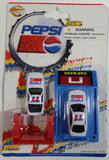 1990s Golden Wheel Special Edition Pepsi Team Racer #77 Die Cast Toy Car Vehicles and Car Wash Blue Version Soda Pop Collectible New in Package