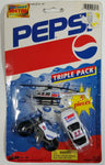 1993 Ja-Ru Pepsi Cola Triple Pack No. 1897 Motorcycle, Helicopter, and #77 Die Cast Toy Car Vehicles Soda Pop Collectible New in Package
