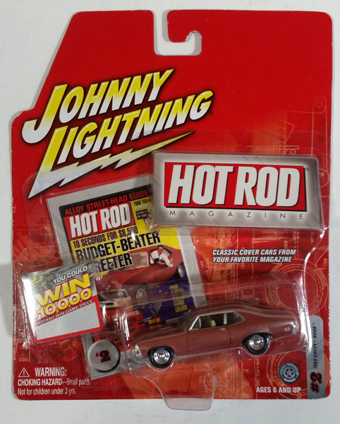 2004 Johnny Lightning Hot Rod Magazine #2 1969 Chevy Nova Brown Die Cast Toy Muscle Car Vehicle New in Package