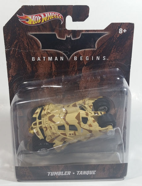 2011 Hot Wheels DC Comics Batman Begins Movie Film Tumbler Tan Sand Beige Army Camouflage Brown Die Cast Toy Car Vehicle New in Package