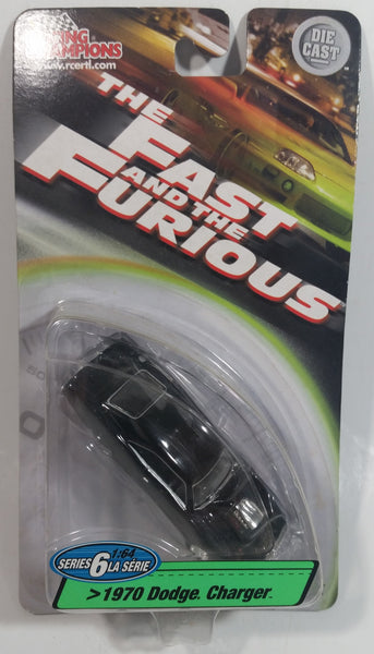 2003 Racing Champions Ertl The Fast And The Furious Series 6 1970 Dodge Charger Black 1/64 Scale Die Cast Toy Car Vehicle New in Package