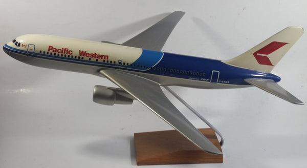 "Scalecraft Models Pacific Western Airlines Boeing 767 - 275 C-GPWA 18 1/2"" Long Passenger Jet Airline Promotional Model Airplane"