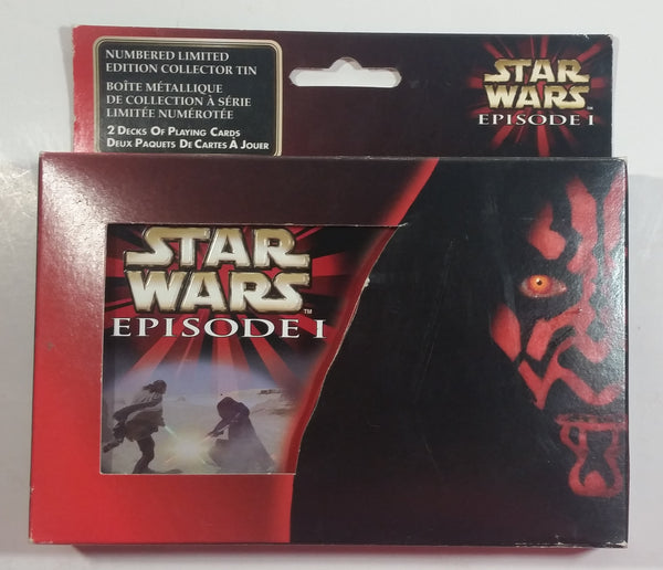 Star Wars Episode 1 Metal Tin Container with 2 Decks of Playing Cards New in Package