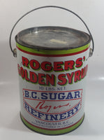 Vintage Rogers Syrup Golden Sugar Vancouver, B.C. Sugar Refinery 10lb 2L Tin Metal Can with Lid
