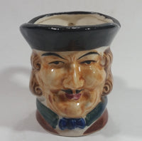 "Antique Toby Style 3"" Tall Colonial Man Face Mug Hand Painted"