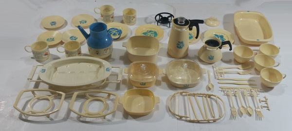 Large Lot of Vintage 1960s Reliable Toys Kitchen Plastic Play Items