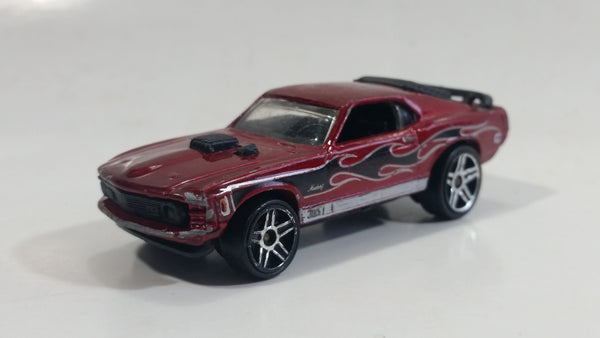 2007 Hot Wheels Mustang Mach I Dark Red Die Cast Toy Muscle Car Vehicle