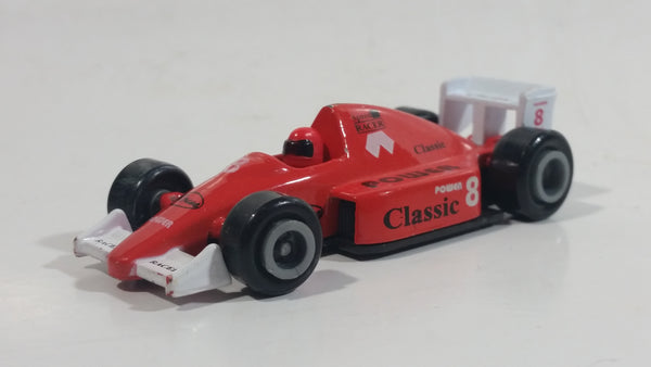 Unknown Brand Classic Power #8 Red Die Cast Toy Race Car Vehicle