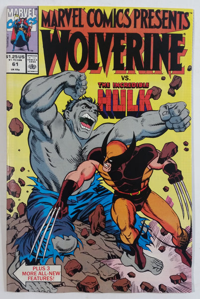 1990 Marvel Comics Presents Wolverine vs. The Incredible Hulk #61 Comic Book