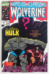 1990 Marvel Comics Presents Wolverine And The Incredible Hulk #58 But Who Is Their Mysterious Foe?! Comic Book