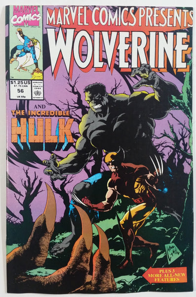1990 Marvel Comics Presents Wolverine And The Incredible Hulk #56 Comic Book