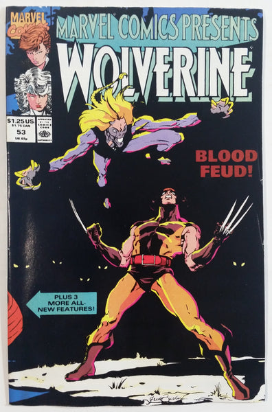 1990 Marvel Comics Presents Wolverine #53 Blood Fued! Comic Book