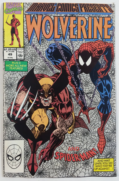 1990 Marvel Comics Presents Wolverine and Spider-Man #49 Comic Book
