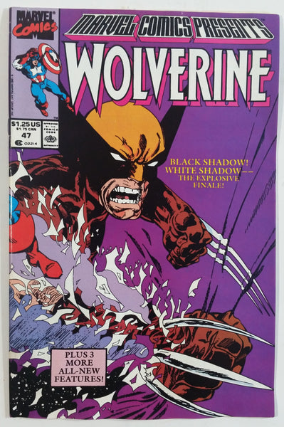 1990 Marvel Comics Presents Wolverine #47 Black Shadow! White Shadow -- The Explosive Finale! Comic Book