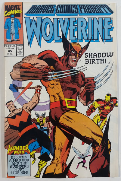1990 Marvel Comics Presents Wolverine #45 Shadow Birth! Comic Book