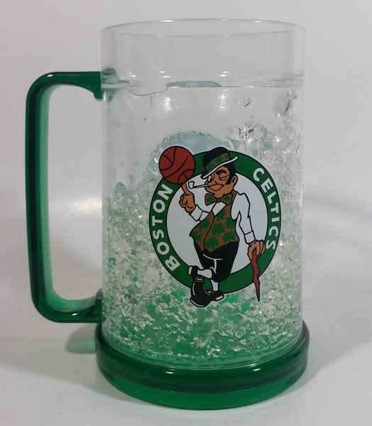 "Boston Celtic NBA Basketball Team 6"" Tall Plastic Freezer Beer Mug Cup"
