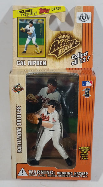 1999 Topps Action Flats MLB Major League Baseball Series 1 Baltimore Orioles Player Cal Ripken Figure and Card New in Box