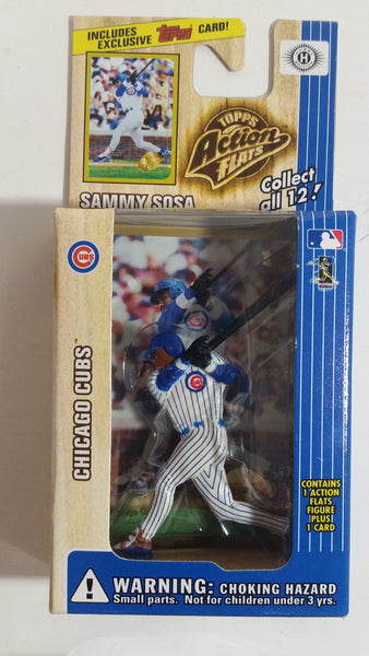 1999 Topps Action Flats MLB Major League Baseball Series 1 Chicago Cubs Player Sammy Sosa Figure and Card New in Box