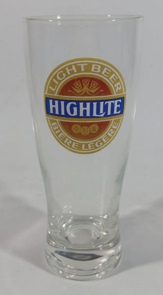 "Vintage HighLite Light Beer 7"" Tall Glass Cup"