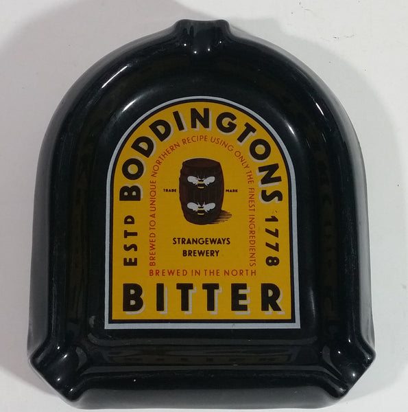 "Rare Strangeways Brewery Boddingtons Bitter Ale Beer ""Brewed in The North"" Black Ash Tray Bar Pub Advertising Collectible"