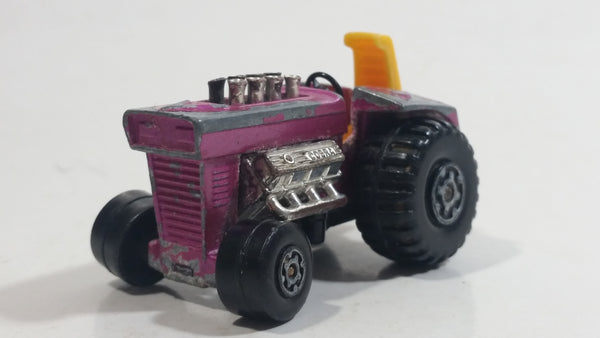 Vintage 1972 Lesney Products Matchbox No. 29 Mod Tractor Magenta Pink Die Cast Toy Car Farming Equipment Machinery Vehicle