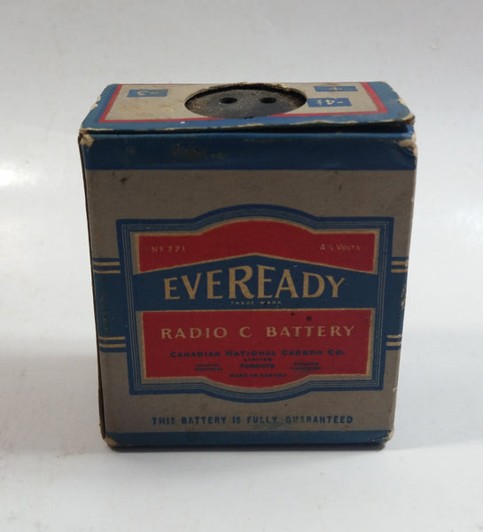 "Antique 1930's Eveready Radio Battery ""C"" Battery NO. 771 Never Opened Box"