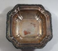 Antique W.M. Rogers Hamilton Electroplated Silver on Copper Victorian Footed Candy Dish