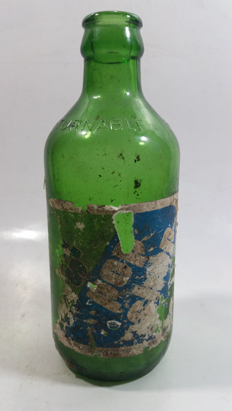 Rare Short lived 1980s Dad's Pop Shop Beverages Ltd. Vancouver, B.C. Green Glass Soda Pop Bottle