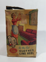 Very Rare 1950s English Clothes Line Reel By Tala Advertising Cardboard Packaging Box