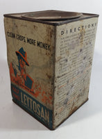 Rare 1940s Leytosan Poison (Mercury) Fungicide Tin for Smut Control in Grain Seeds England