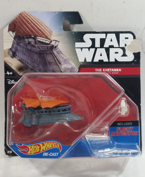 2015 Hot Wheels Disney Star Wars Starship The Khetanna Jabba's Sail Barge Die Cast Toy Car Vehicle New in Package