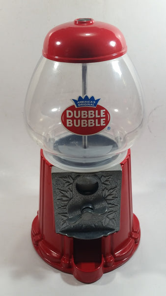 "Dubble Bubble Gumball Candy Dispenser Machine Coin Bank Metal with Plastic Globe 11"" Tall"