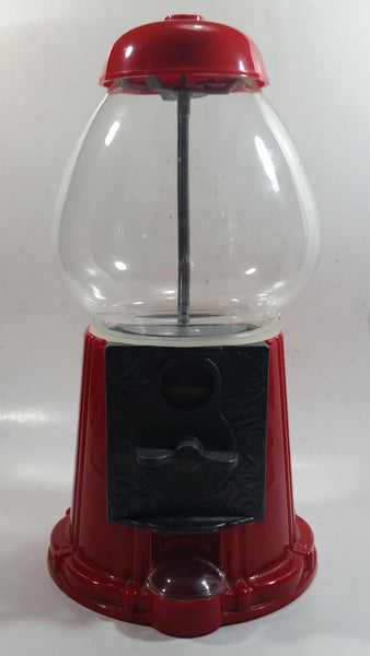 "Continental Gumball Candy Dispenser Machine Coin Bank Metal with Glass Globe 11"" Tall"