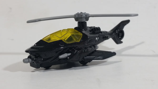 2015 Hot Wheels DC Comics Batman Batcopter Helicopter Black Die Cast Toy Car Vehicle