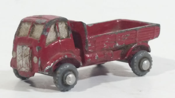 Rare HTF Vintage 1950s Farm Truck Red Tiny Miniature Die Cast Toy Car Vehicle Made in Japan