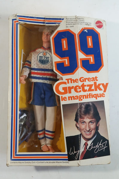 "1993 Mattel #99 The Great Gretzky Wayne Gretzky Edmonton Oilers NHL Hockey 12"" Tall Team Barbie Doll in Box Short Stick"