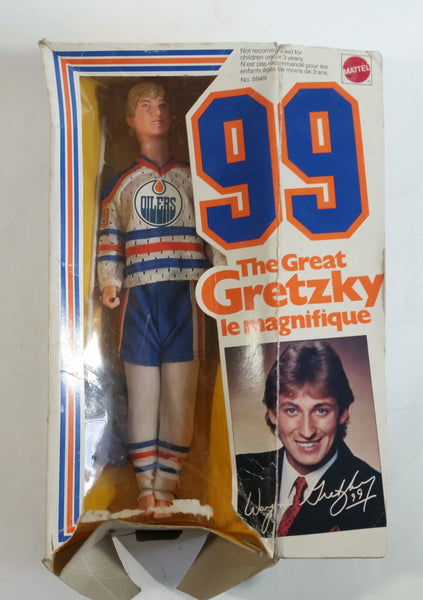 "1993 Mattel #99 The Great Gretzky Wayne Gretzky Edmonton Oilers NHL Hockey 12"" Tall Team Barbie Doll in Box Long Stick"