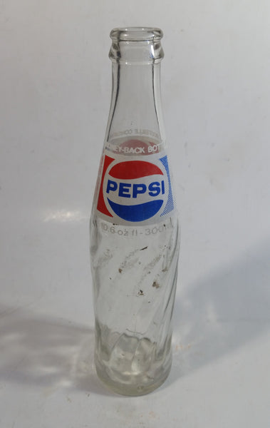 Vintage 1970s Glass Pepsi Bottle 10.6 oz fl 300mL English & French