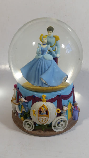 "Enesco Disney Cinderella and Prince Charming Musical Snow Globe Plays ""I Love You Truly"""