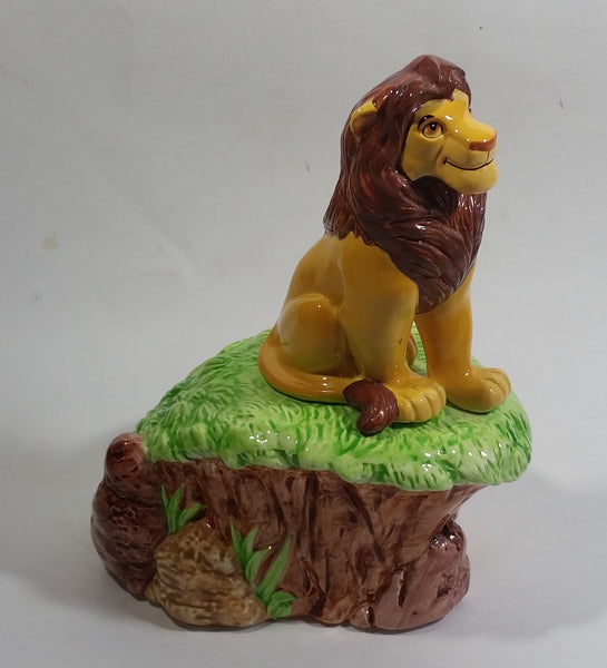 1994 Enesco Walt Disney The Lion King Movie Film Ceramic Musical Box Plays Circle of Life