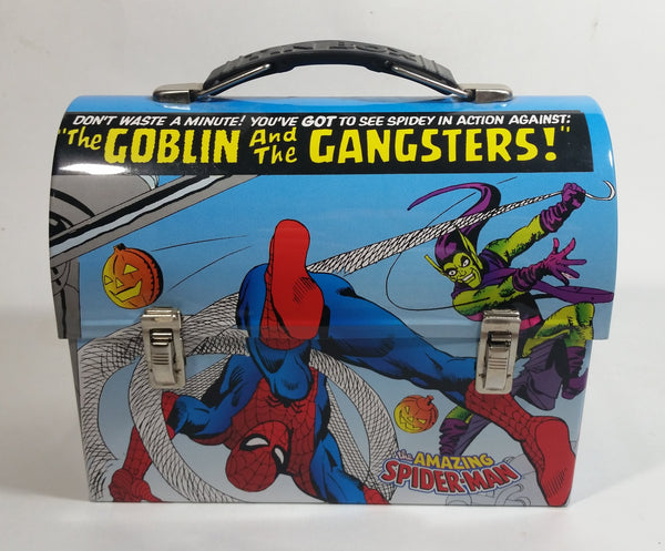 "2007 Marvel Comics The Amazing Spider-Man ""The Goblin and the Gangsters!"" Tin Metal Lunch Box"