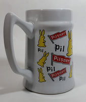 "Pilsner Beer Bunny Rabbit Themed 5 1/2"" Tall Stein Mug Breweriana Collectible Drinkware"