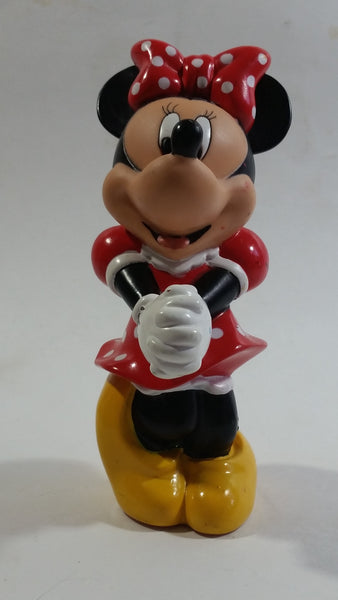 "Disney Minnie Mouse Cartoon Character Hard Rubber 5 1/2"" Tall Figure"
