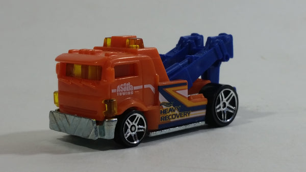 2019 Hot Wheels Heavy Hitcher Tow Truck Orange Plastic Body Die Cast Toy Car Vehicle