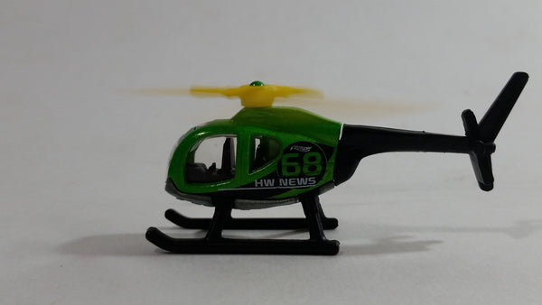 2017 Hot Wheels HW City Works Island Hopper Helicopter Green Black Die Cast Toy Aircraft Vehicle